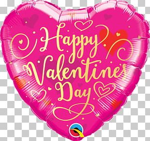 Mylar Balloon Valentine's Day Birthday Heart PNG