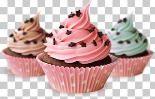 Delicious Cupcakes Muffin Frosting & Icing PNG
