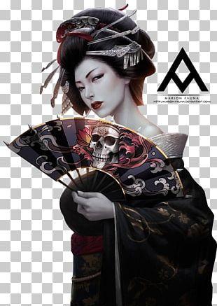 Geisha Japan Art Drawing Painting PNG