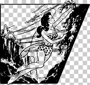 Jungle Girl Drawing PNG