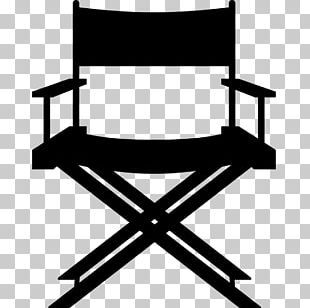 Table Director's Chair Stool Leather PNG