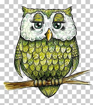 Snowy Owl Spoonflower Watercolor Painting Textile PNG