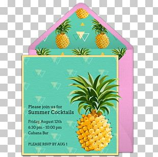 Pineapple Wedding Invitation Convite Birthday Party PNG