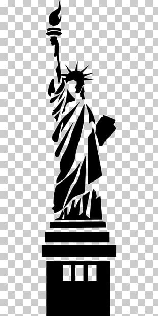 Statue Of Liberty Statue Of Freedom Silhouette Monument PNG