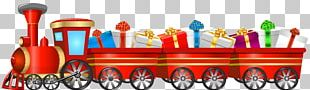 Train Tweetsie Christmas Santa Claus PNG