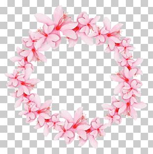 Wreath Pink Garland Crown PNG