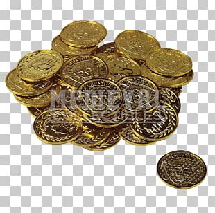 Gold Coin Pirate Coins Money PNG