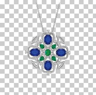 Charms & Pendants Sapphire Gemstone Jewellery Necklace PNG