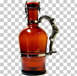 Beer Bottle Growler Glass Bottle PNG