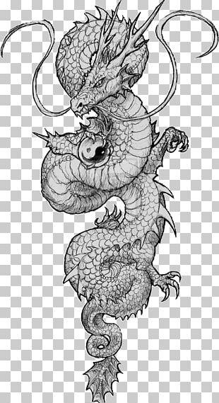 Chinese Dragon Tattoo Japanese Dragon Drawing PNG