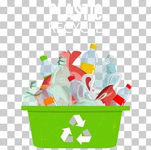 Plastic Recycling Symbol Waste Container PNG