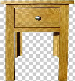 Bedside Tables Furniture Drawer Wood PNG