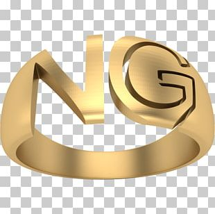 Ring Gold Body Jewellery Space Age Monogram PNG