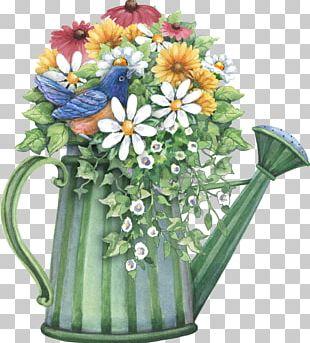 Watering Cans Flower Garden Flowerpot PNG