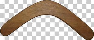 Blank Wooden Boomerang PNG