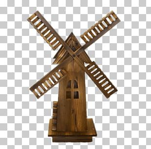 Wooden Windmill PNG