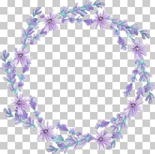 Wreath Flower Petal Lavender Crown PNG