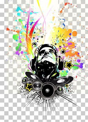 Disc Jockey Nightclub Music Poster PNG