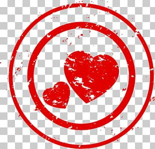Valentine's Day Heart Stamp Chapter PNG