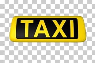 Yellow Taxi Sign PNG