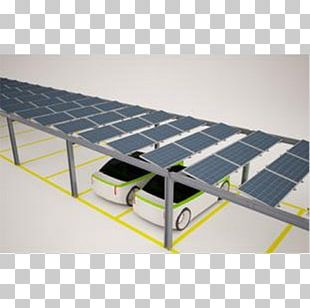 Solar Power Photovoltaic System Roof Solar Panels Car Park PNG