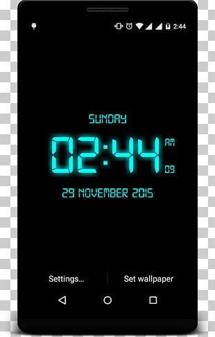 Android Mobile Phones Desktop Digital Clock PNG