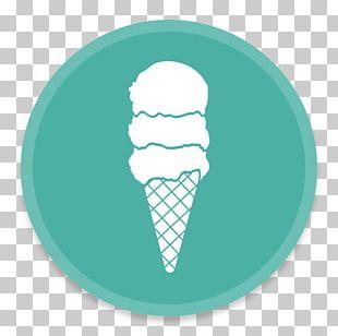 Food Aqua Ice Cream Cone Font PNG