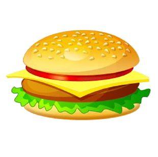Hamburger Cheeseburger Veggie Burger Chicken Sandwich French Fries PNG