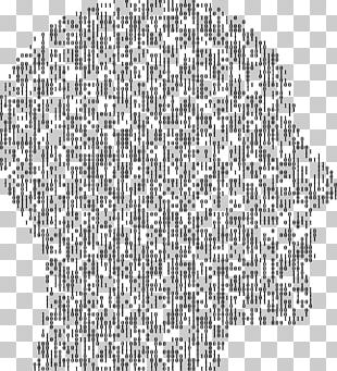 Human Head Concrete Poetry Skull Thought PNG