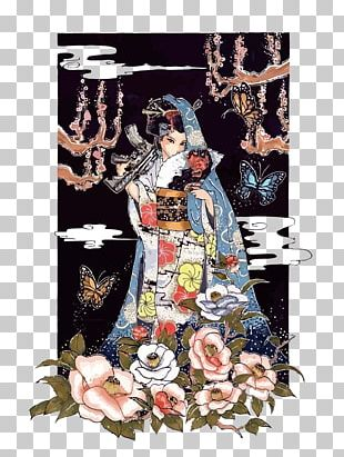 Japan Geisha Graphic Design Illustration PNG