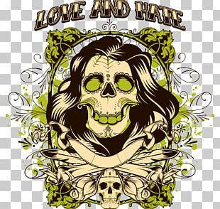 T-shirt Skull Stock Illustration PNG