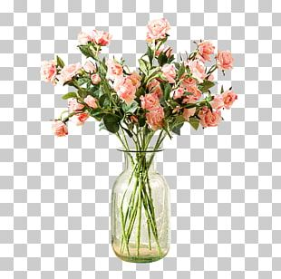 Flowers In A Vase Vase Of Flowers Garden Roses PNG