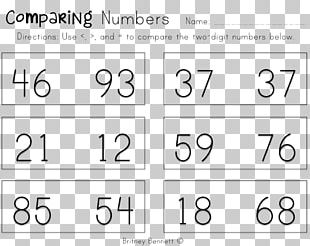 Number First Grade Numerical Digit Worksheet Mathematics PNG
