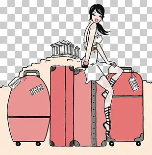 Travel Suitcase Road Trip Drawing Illustration PNG