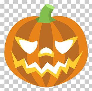 Emoji Pumpkin Jack-o'-lantern Sticker Halloween PNG
