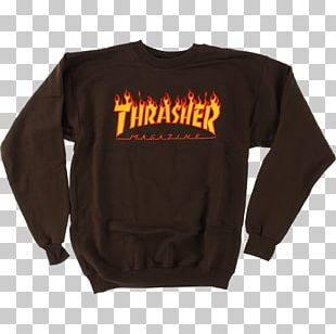 T-shirt Thrasher Presents Skate And Destroy Sleeve PNG