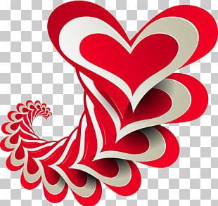 Valentine's Day Heart Graphic Design PNG