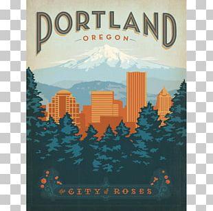 Portland Poster Decorative Arts Graphic Design PNG