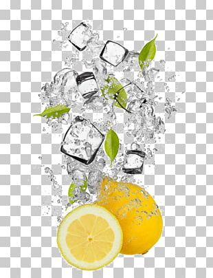 Ice Cube Lemonade Water Drink PNG