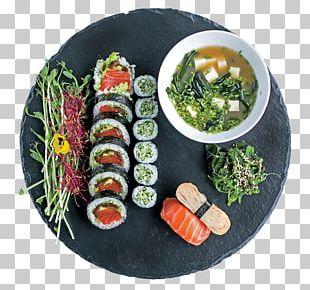 California Roll Gimbap Sushi Vegetarian Cuisine Lunch PNG
