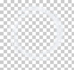 White Cloud Line Point PNG