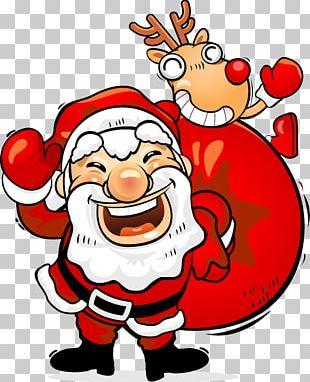 Mulled Wine Santa Claus Christmas Card Gift PNG