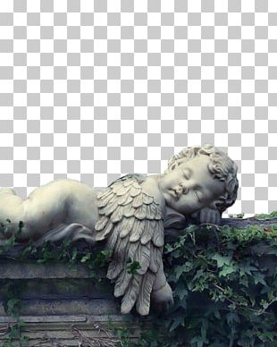 Cherub Guardian Angel Child Garden Ornament PNG