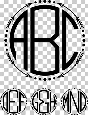 Gift Horse Monogram Decal Initial Font PNG