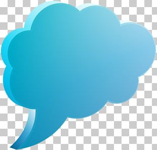 Speech Balloon Blue Text PNG
