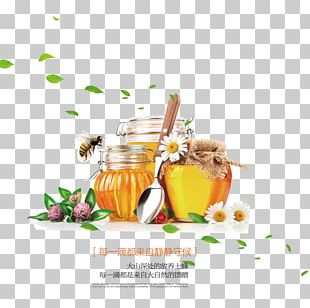 Honey Bee Sweetness Food Bottle PNG