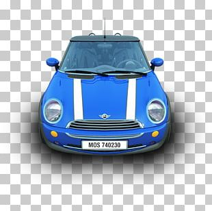 Mini Cooper Electric Blue Automotive Exterior Subcompact Car PNG