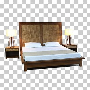 Bed Frame Bedside Tables PortsideCafe Furniture Studio PNG