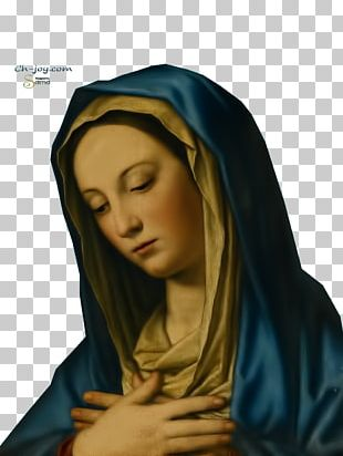 Virgin Mary Madonna In Prayer Painting PNG