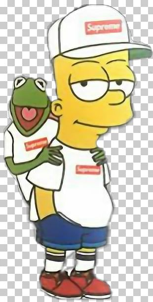 Bart Simpson Kermit The Frog Supreme Cartoon PNG